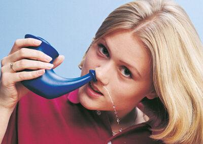 výplach nosovej dutiny